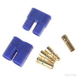 Wholesale Motor House - EC3 EC3.0 Golden Plug Female Male Bullet Connector with Blue House for RC ESC LIPO Battery Motor AFD_618