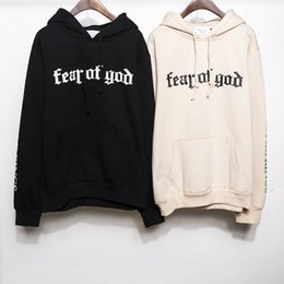 Wholesale Visions Painting - New Brand Fear Of God Mens Pullover Stripe Offset Print Hoodies Fleece Sweatshirts Brand Vision Religion Painting VIRGIL ABLOH Free Shipping