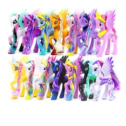 Wholesale Pet Pvc - 14CM High Unicorn Doll Pets Horse PVC Action Toy Figures Christmas Little Gift
