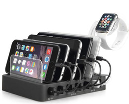 2019 soporte de escritorio para iphone Multi-Device Charging Station Stand Organizador de escritorio compatible con 4/5/6-Port USB Charger para teléfonos inteligentes y tabletas soporte de escritorio para iphone baratos