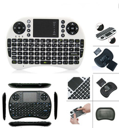 Wholesale Retail Box Package Ipad - Newest Portable mini keyboard Rii Mini i8 Wireless Keyboard with Touch pad for PC Pad Google Andriod TV Box with retail package