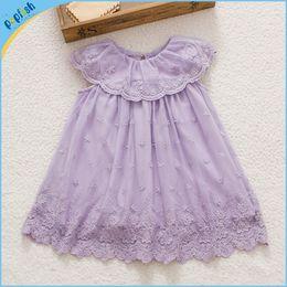 Wholesale Tulle Tutu Fairy - Summer season kids wear princess lace waist fairy beautiful girl baby dress brithday dress free shipping
