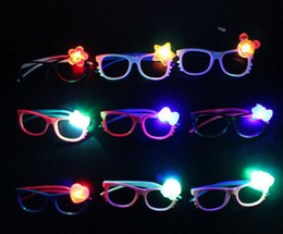 Wholesale Cheap Framed Decorations - Led flash glasses frame children girl boy cartoon flashing lights glasses party bar event supplies decoration Christmas kids cheap gift