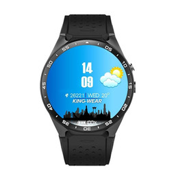 Wholesale 3g Remote - Smart watch KW88 3G Android 5.1 IOS watchs support 2.0MP Camera Bluetooth smartwatch SIM Card WiFi GPS Heart Rate Monitor