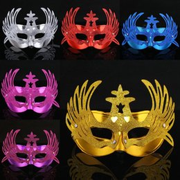 Wholesale Phoenix Color - Color Phoenix Crown Princess Mask Masquerade Party Cosplay Performance PVC Mask Christmas Festival Gift 12pcs lot SD991