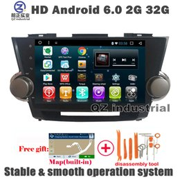 Wholesale Toyota Dvd Gps Player - HD 1024*600 2G 16G 10.1 inch Android 6.0 for Toyota highlander 2007-2013 Car DVD player with 3G 4G WIFI GPS BT navigation Radio RDS free map