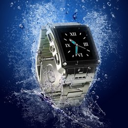 Wholesale Bluetooth Watch Mp4 Player - 2015 Montre Bluetooth Smart Watches High Quality Waterproof Stainless Steel Smart Watch MP3 MP4 Mobile Cell Phone Android W818