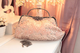 Wholesale Vintage Beaded Evening Bags - Vintage Beaded Bridal Hand Bags Evening Party Bag Wedding Bag Bridesmaid Hand Bag
