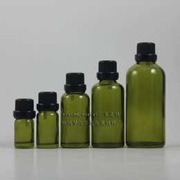 Wholesale Dropper Bottle Green Caps - 100ml light green dropper glass bottle with black anti-theft screw cap,dropper container,essential oil bottle,cosmetic container