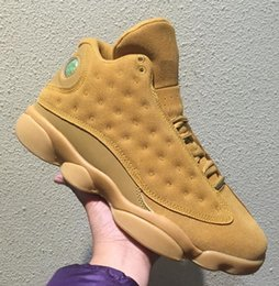 Wholesale Wheat Free - Wheat 13s Retro 13 Golden harvest Elemental gold Wholesale Basketball Shoes Best Quality Men size With Box Free shipping