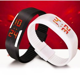 Wholesale Touch Watches Wholesale - Smart Touch Screen LED Watch Rubber Fashion Boys Girls Sprots Watches Digital WristWatch Jewellery Bracelets Gift