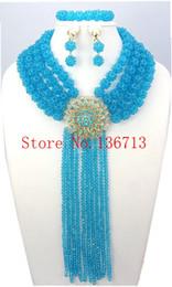 Wholesale Chunky Costume Jewelry - Costume African Jewelry Sets 18K Chunky Nigerian Beads Wedding Jewelry Set Luxury Dubai Bead Bridal Jewelry Set BS401-1