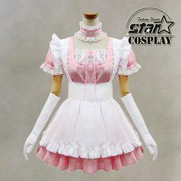 Wholesale Lolita Role Play Dress - Wholesale-Free Shipping Anime Koizumi Carton Cosplay Costume Kawaii Sweet Candy Lolita Maid Dress Costume House Keeper Role Play Clothing