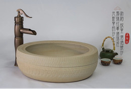 Wholesale Hand Sink Wash Basin - Beauty TaoWan all hand carved antique ceramic basin art basin is the basin that wash a face basin sink on stage