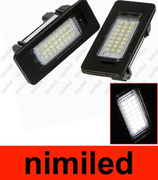 Wholesale Bmw E39 License Plate Light - Free Shipping 3528 SMD 24 LEDs Car License light Led Lamp Plate LED Light Lamp for BMW E39 E60 E61 E90 5 Series HSA1961
