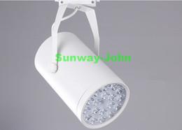 Wholesale 12w Led Track Light - Black White LED track light 3W 5W 7W 9W 12W 15W 18W lighting Natural Cool Warm White led clothing lights AC 85-265V