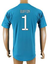 Wholesale Quality Custom Homes - 17-18 Custom mens Home Goalkeeper #1 Buffon Jerseys Shirts Tops,10 DYBALA name number,Customized 9 HUGUAIN Custom Cheap Thai Quality Wear,