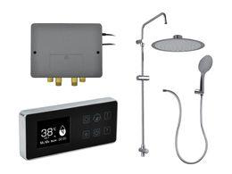 Wholesale Metal Control Panel - 2 way output digital shower smart digital bathroom thermostatic shower multifunctional water temperature controller panel control bathroom