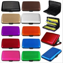 Wholesale Aluminium Credit Card Wallet Cases - High Quality Credit Card Holder Bank Credit Card Wallet Case Aluminium Business ID Credit Cards Wallets Holders Card Holders Colorful