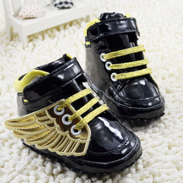 Wholesale Fashion Foot Wear - Spring Autumn Baby First Walker Shoes Angel Wings Modelling Infant Shoes Fashion Cool Style Toddler Shoes Feet Wear 2015 New TR143