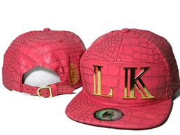 Wholesale Cheap Leather Top Hats - pink Brand New lastkings Snapback Leather baseball Caps Cheap Fashion Hip Hop MEN WOMEN last king designer hats top quality DDMY