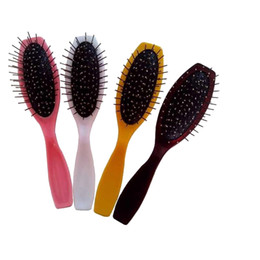 Wholesale Hair Tooth Comb - Professional Wig Comb Steel Tooth Four Colors Hair Styling Tools Hair Brush Comb Free Shipping