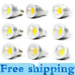 Wholesale Mr16 Lighting Angle - Super bright COB GU10 Led 5W 7W 9W bulbs light 60 angle dimmable E27 E26 E14 MR16 led spotlights warm pure cool white 110-240V 12V