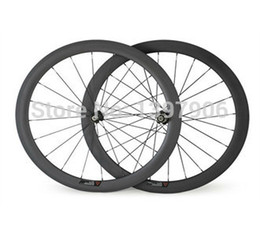 Wholesale Novatec Hub Wheelset - carbon wheelset bikes 700c 50mm OEM carbon clincher wheels for road bicycle wheel novatec hubs 23mm wide road rims carbon bike