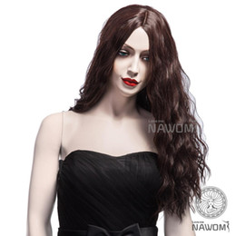 Wholesale Parts Offers - special offer long small waves wig brown color centre parting Synthetic Wig 1pcs Free Shipping 5127