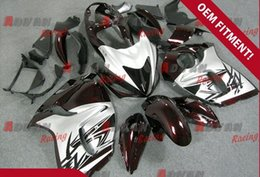 Wholesale Injection Molding Hayabusa - Red and silver with black characters Injection molding custom painted fairing Hayabusa GSX1300R 08-14 12