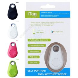 Wholesale Best Bluetooth Gps - Best iTag Anti Lost Self Portrait Theft Device mini Smart bluetooth Alarm GPS Tracker Locator Remote control shutter 4 Android iphone 6s IOS