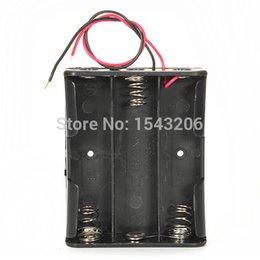 encomendar caixas de plástico Desconto Novo 11.1 V 6 Fios De Plástico Preto Caso Titular Caixa De Armazenamento De Bateria De Plástico Para 3 x 18650 ordem $ 18no tracking