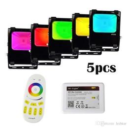 Wholesale Refletor Led - LED Floodlight RGB RGBW Wifi Flood Light IP65 Waterproof 30W 50W Refletor Spotlight With Remote Kit for Outdoor Lighting