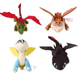 Wholesale Yellow Dragon Toy - How to Train Your Dragon 2 Action Dragon Plush Toothless Stormfly Meatlug Skull Children Cartoon Toys Dolls 6Pcs Lot J2719