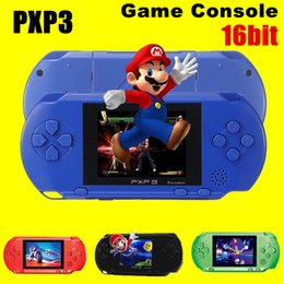 Wholesale Dhl Portable - High Quality Game Player PXP3(16Bit) 2.5 Inch LCD Screen Handheld Video Game Player Console 5 Colors Mini Portable TV Game Free DHL 10pcs