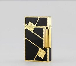 Wholesale Buy Lighters - STD upont lighter bought whole copper say Chinese lacquer and gilded diagonal fortune 16886