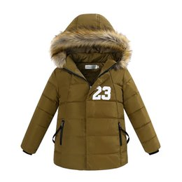 Wholesale Skiing Jacket Parka - Wholesale-(4-12 T) Winter Warm Hooded Reima Parka Down Coats For Boys 2015 New Year Children's Jackets Skiing Bibs Suit Outerwear U04