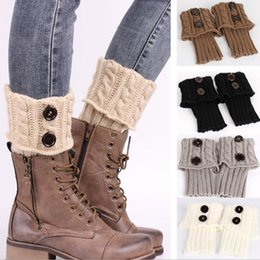 Wholesale Lace Socks For Boots Wholesale - Women crochet lace and knitted cuffs Knitted Boot Toppers women boot cuffs socks winter leg warmers for women fashion gaiters boot