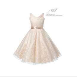 Wholesale White Real Fur Wrap - 2015 Elegant Ball Gown V-Neck Tank Applique Beaded Waist Crepe Floor-Length Real Beautiful Charming Flower Girl Dresses Kid Gown