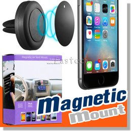 Wholesale Tablet Car Mount Clip - New 2017 Universal Car Air Vent Mount Clip Magnetic Holder Dock For iPhone For Samsung Magnet holder for iphone 6S Mobile Phone Tablet GPS