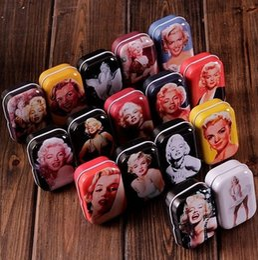 Wholesale Marilyn Monroe Accessories - Freeshipping Vintage Style Sexy Marilyn Monroe tin box  Collectables  mini iron case storage case pills storage box 32pcs lot