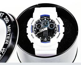 Buono digitale online-orologi sportivi da uomo classici relogio, orologio da polso cronografo a LED, orologio militare, orologio digitale g100, buon regalo per uomo con scatola ga