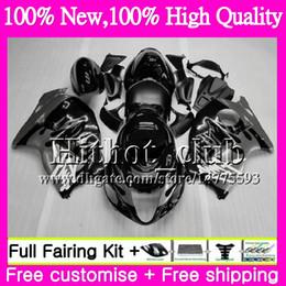 Wholesale Hayabusa Bodies - Body For SUZUKI Hayabusa GSXR1300 96 07 GSX R1300 41HT97 GSXR-1300 Grey flames GSXR 1300 1996 1997 1998 1999 2000 2001 Motorcycle Fairing