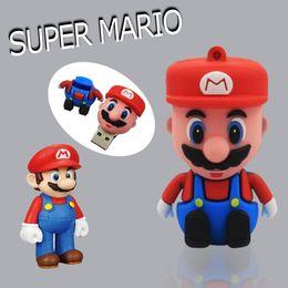 Wholesale Super Thumb Drive - 100pcs Super Mario 64GB 128GB 256GB USB flash drive USB 2.0 memory stick Pendrive Thumb drive usb stick for tablet PC