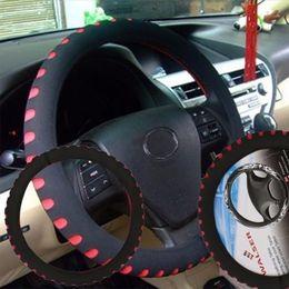 "Wholesale Pvc Steering Wheel - 38CM 15"" Car Steering Wheel Control Cover Gloves EVA No-Slip Universal Fit Red"