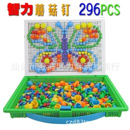 Wholesale Insert Bead Toy - Wholesale-Wholesale 2015 New Toys 3 sets Mushroom Nail Puzzle Beads Inserted Puzzle Toy Intelligence Toy for Children