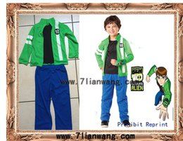 Wholesale Custom Made Free Postage - Wholesale-BEN 10 JACKET Aliens Force kids boys cosplay Benjamin irby Tennyson costume and Halloween Cloth any size full set Free postage