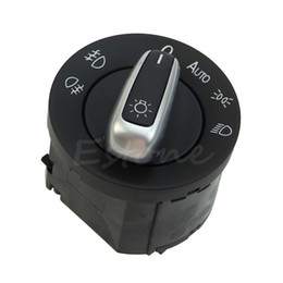 2019 interruptor de faro vw Envío gratis Chrome Headlight Interruptor de control Ajuste para VW GOLF JETTA MK5 MK6 PASSAT CC B6 orden $ 18no pista rebajas interruptor de faro vw