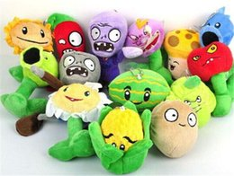 Wholesale Zombie Dolls - 2014 New Plants VS Zombies Soft Plush Toy With Sucker A full set of 14 Stuffed Toys Plush Animals Toys Stuffed Toys Dolls