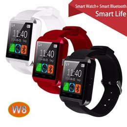 Wholesale W8 Phones - 100% Original Gooweel W8 Bluetooth Smart Watch Sport for iPhone 4 4S 5 5S 6 6+ Samsung S4 Note s6 HTC Android Phone Smartwatch